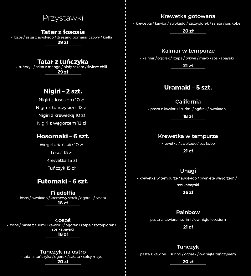 Sushi w Restauracji OLIVIO | Hotel Kempen